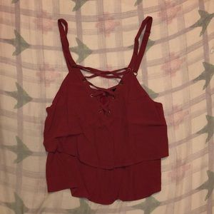 Forever 21 (Small) red fashion tank top